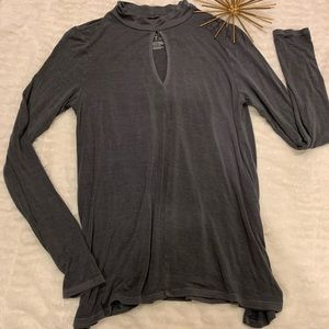 Like New American Eagle Soft & Sexy Gray Top Small